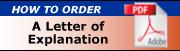 order letter of explanation